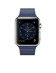 APPLE Watch Gece Mavisi Derili Paslanmaz Çelik Akıllı Saat
