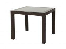 ARİZONA Rainbow Camlı Masa, 80x80, Beyaz, Krem, Kahve.