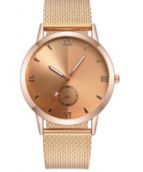 Deri Bantlı Kuvars Saat, Rose Gold