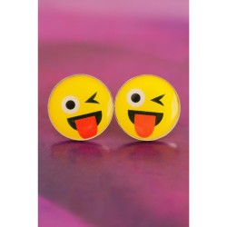 Emoji Tasarımlı Yuvarlak Bayan Küpe BKP410 w:250 h:250