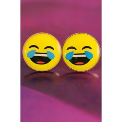 Emoji Tasarımlı Yuvarlak Bayan Küpe BKP408 w:250 h:250