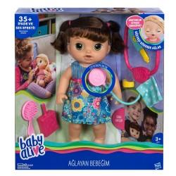 Hasbro C0958 Baby Alive Ağlayan Bebeğim-Kumral
