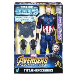 HASBRO E0607 Marvel Avengers: Infinity War Titan Hero Power FX Captain America Figür w:250 h:250