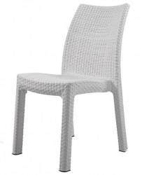 MILAN Keter Rattan Sandalye, Beyaz w:203 h:250