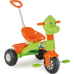 PİLSAN Kontrollü Üçteker Dino Bisiklet, Yeşil Turuncu