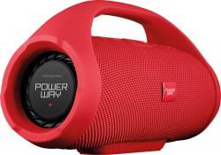 POWERWAY WRX-09 Taşınabilir Kablosuz Hoparlör, Kırmızı