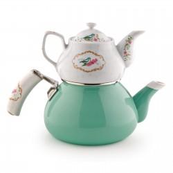 SCHAFER Stelle Porselen Çaydanlık, Su Yeşili w:250 h:250