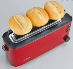 Severin AT9729 Ekmek Kızartma Makinesi 1000W, Metalik Kırmızı/Siyah w:250 h:236