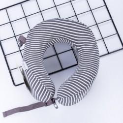 XIMISO Çizgili U-Şekilli Boyun Yastığı, Koyu Gri