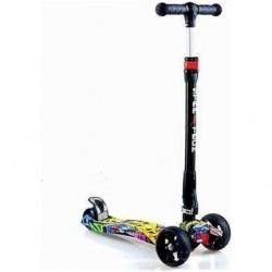 STARTECH Üç Tekerli Katlanabilir Led Işıklı 3 Tekerlekli Kız Erkek Çocuk Scooter 60 KG Taşıma