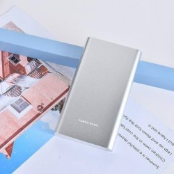 XIMISO Trendy Metal 10000mAh Taşınabilir Şarj Aleti (Powerbank), Silver