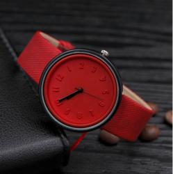 Unisex Kuvars Kol Saat, Kırmızı w:249 h:250