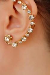 Zirkon Parlak Taşlı Kulak Arkası Bayan Küpe BKP2044 w:167 h:250