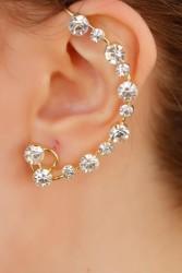 Zirkon Parlak Taşlı Kulak Arkası Bayan Küpe BKP2040 w:167 h:250