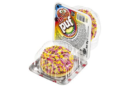 Eti 18 gr Puf Renkli Granül Kaplamalı Marshmallow Bisküvi
