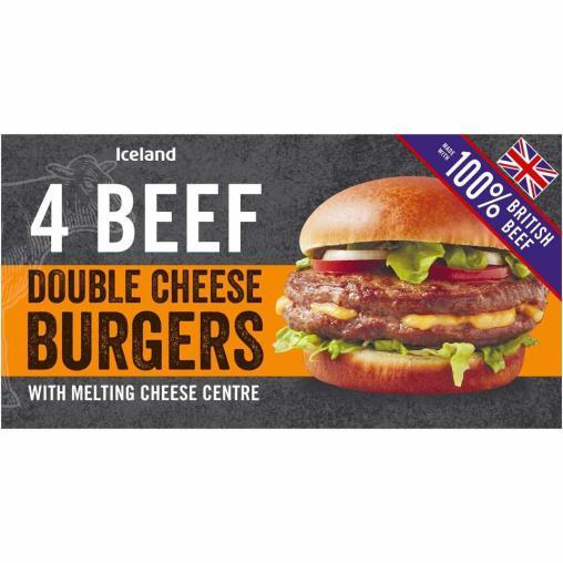 Iceland 454 gr 4 Adet Çift Peynirli Burger