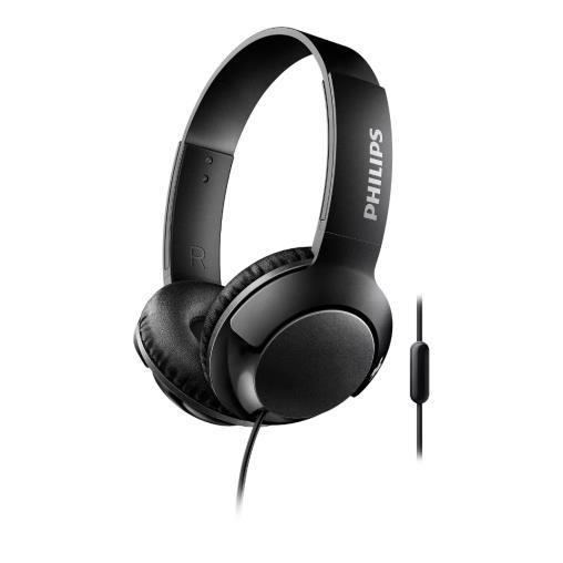 Philips Bass+ Mikrofonlu Kulaküstü Kablolu Kulaklık, Siyah