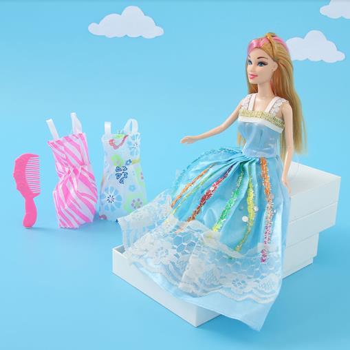 Ximiso Mavi Elbiseli Barbie Bebek