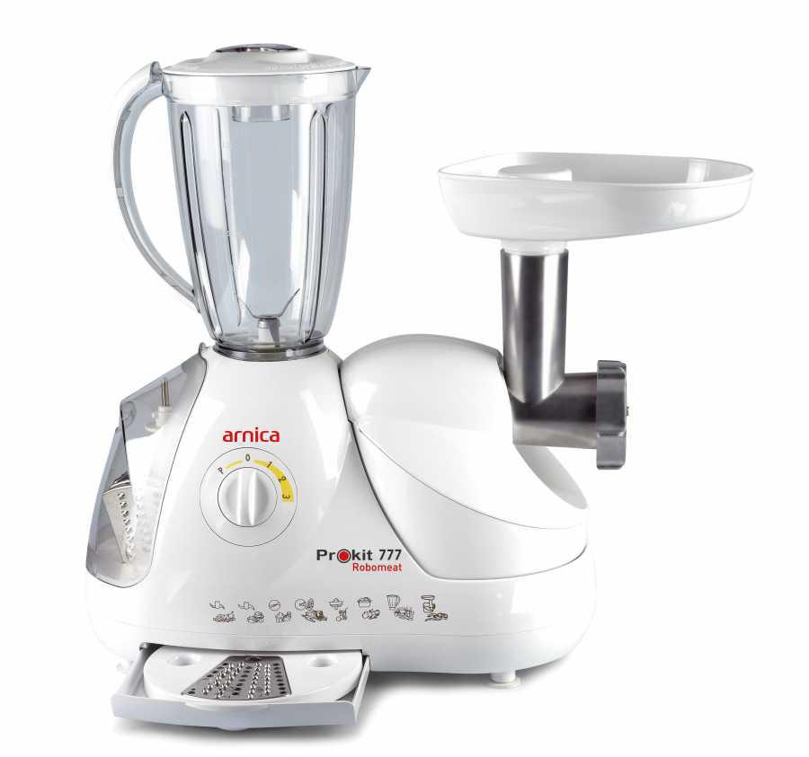 Arnica Prokit 777 Robomeat Mutfak Robotu + Kıyma Makinesi