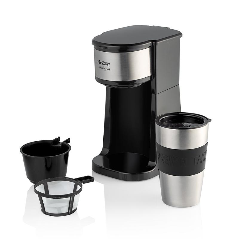 Arzum AR3058 Brew'N Take Kişisel Filtre Kahve Makinesi, Siyah