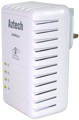 Aztech HL110EW 300Mbps Wireless Homeplug AV Ethernet Adaptör