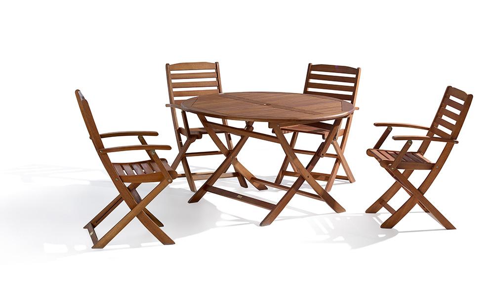 Kenya Okaliptus 1 Masa + 4 Sandalye Oturma Grubu w:3450 h:2136