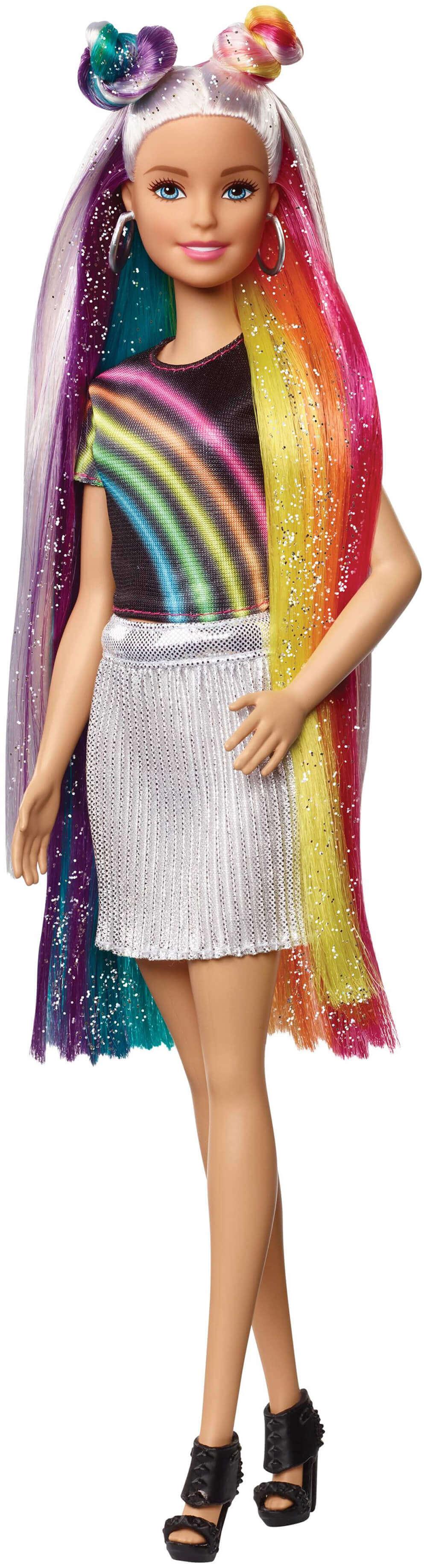 MATTEL FXN96 Barbie Gökkuşağı Renkli Saçlar Bebeği