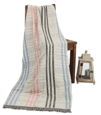 Özdilek 125x160 Floretta Asphaltgray Pamuklu Battaniye