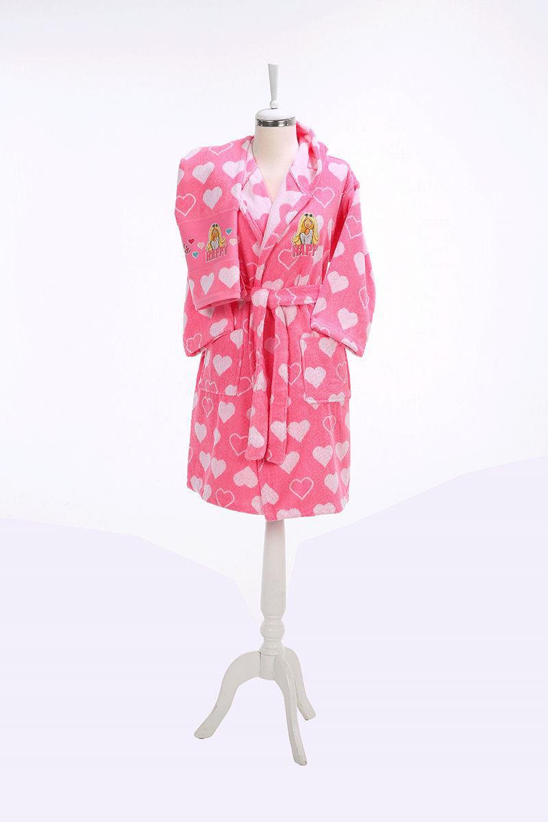 Özdilek Barbie Happy 5-6 Yaş Çocuk Bornoz Seti