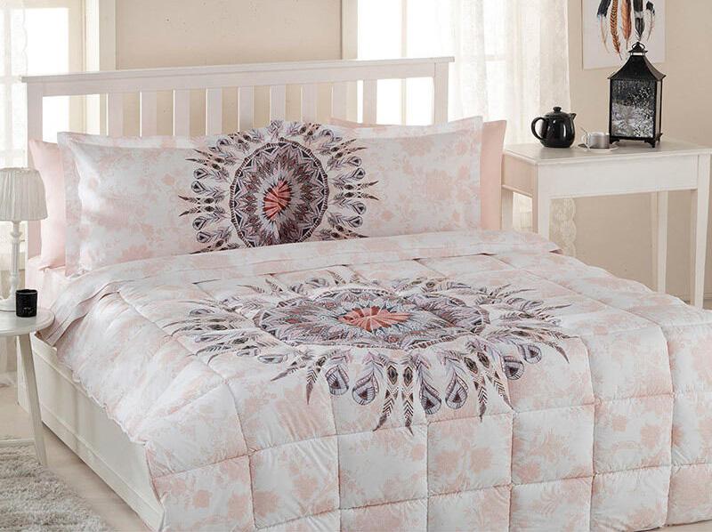 Özdilek Mandala Çift Kişilik Uyku Seti, Somon
