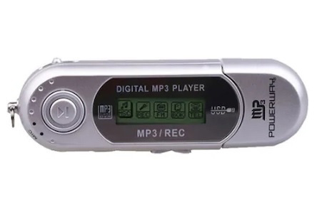 "POWERWAY PW-01 2GB 1.0"" Ekran + FM Radyo + Ses Kayıt Mp3 Çalar, Gri"