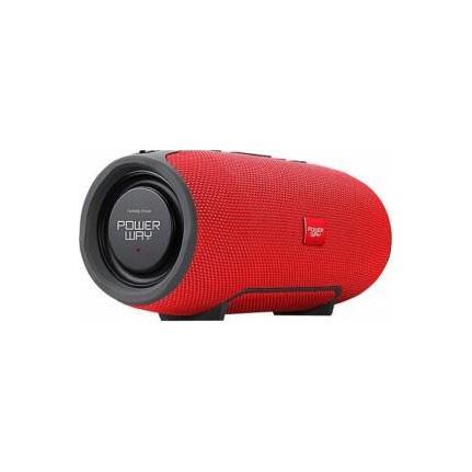 POWERWAY WRX01 Kablosuz Bluetooth Hoparlör Extra Bass, Kırmızı