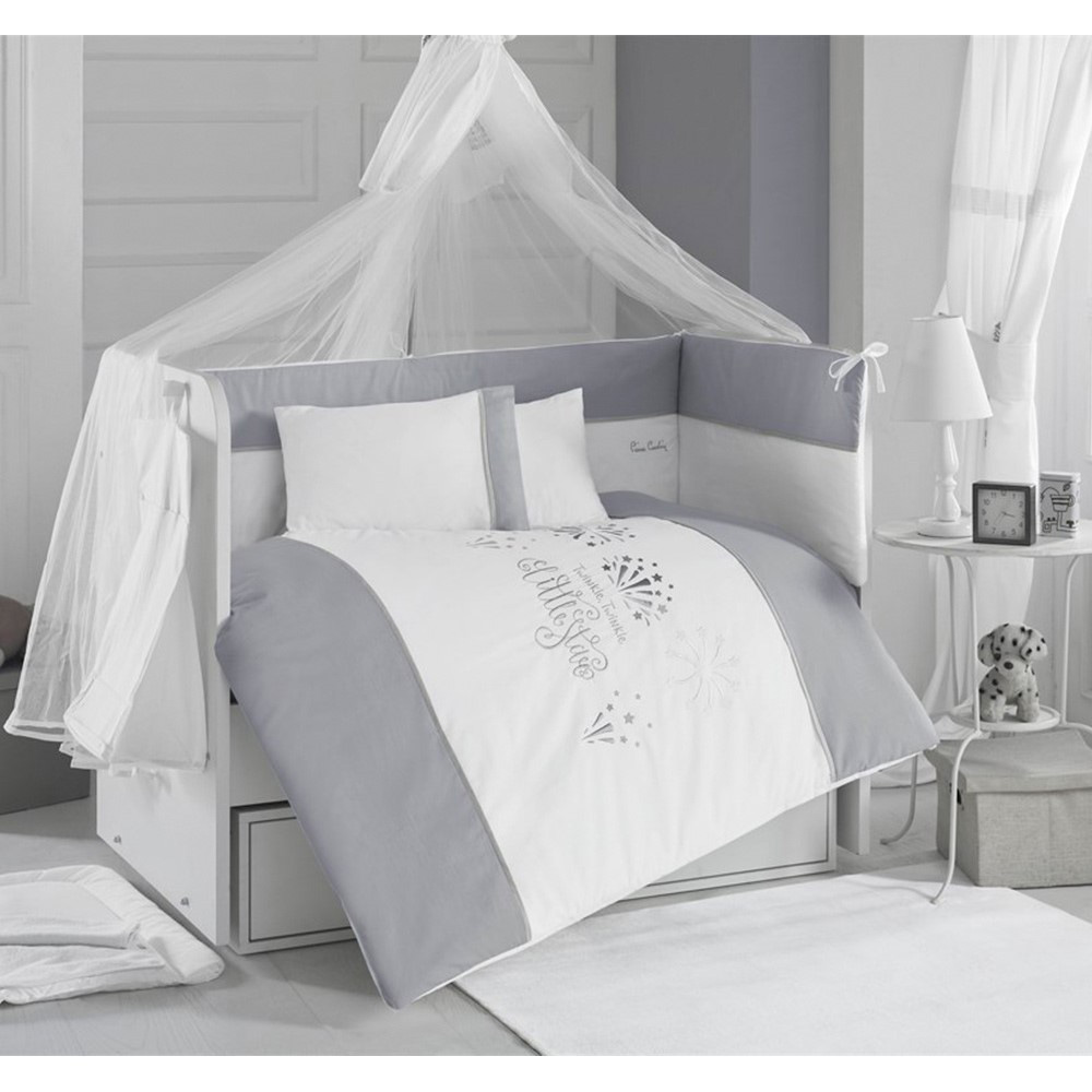 Pierre Cardin Little Stars in White Bebek Uyku Seti 8 Parça 70x130cm