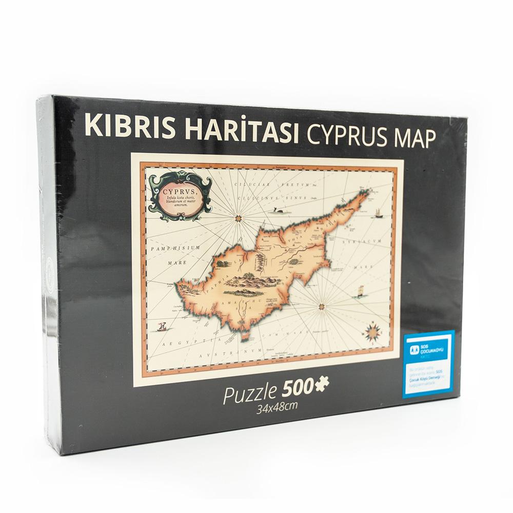 SOS Kıbrıs Harita Puzzle 500 Parça