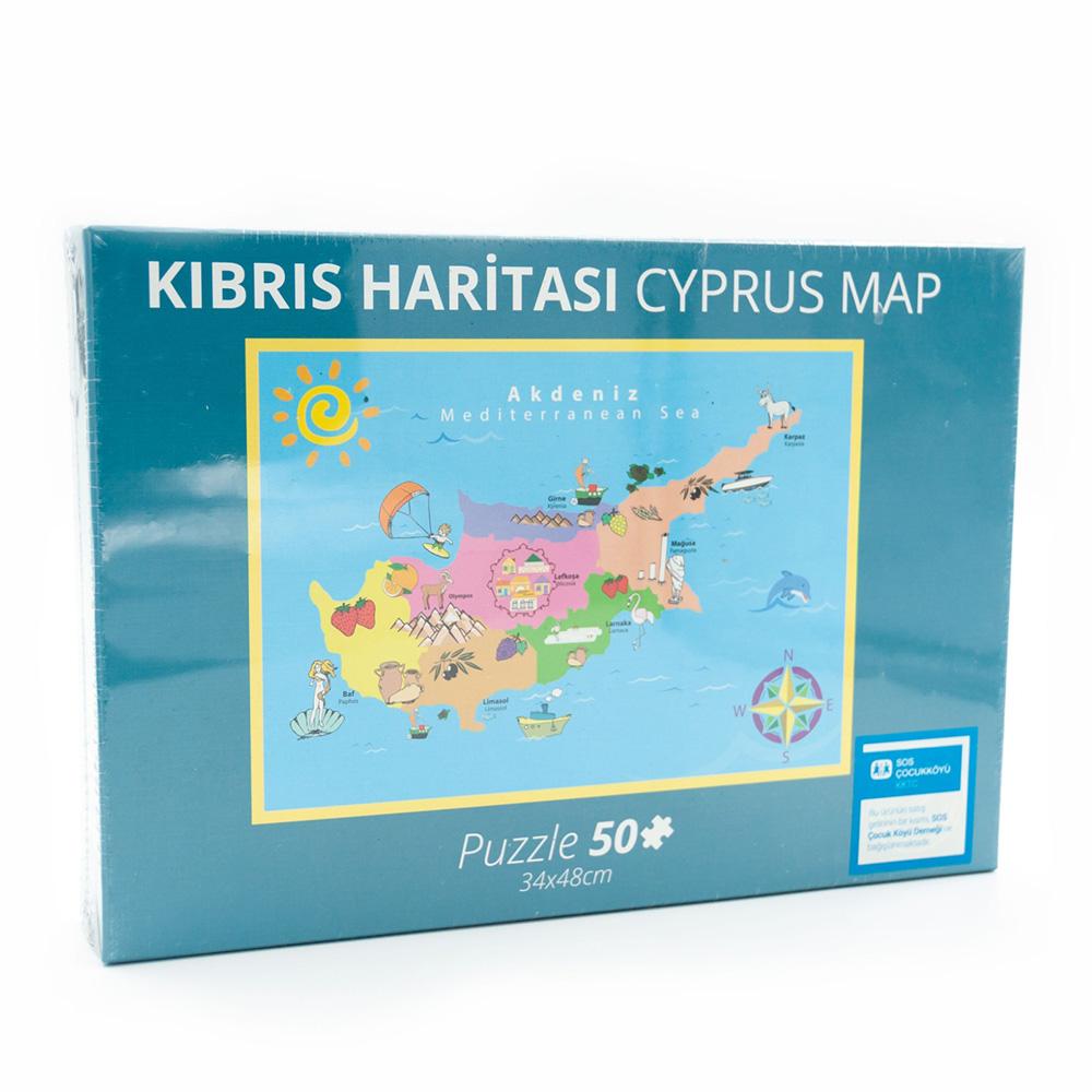SOS Kıbrıs Harita Puzzle 50 Parça