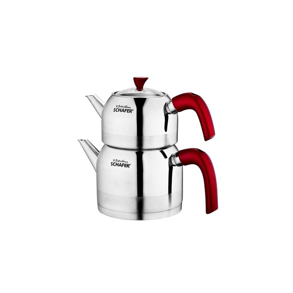 Schafer Ada Orta Boy Çaydanlık,Kırmızı