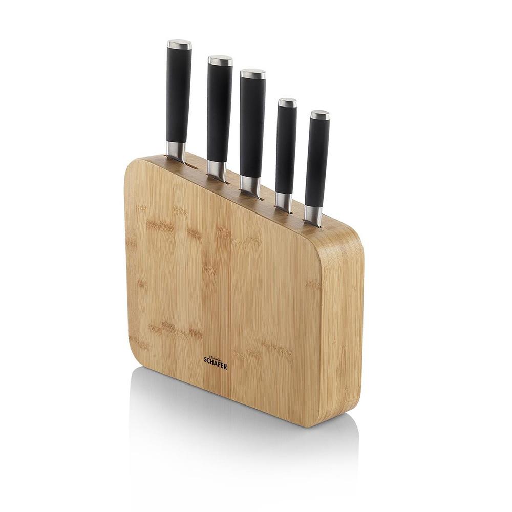 Schafer Solıde Bıçak Seti  6 Parça,Kahverengi