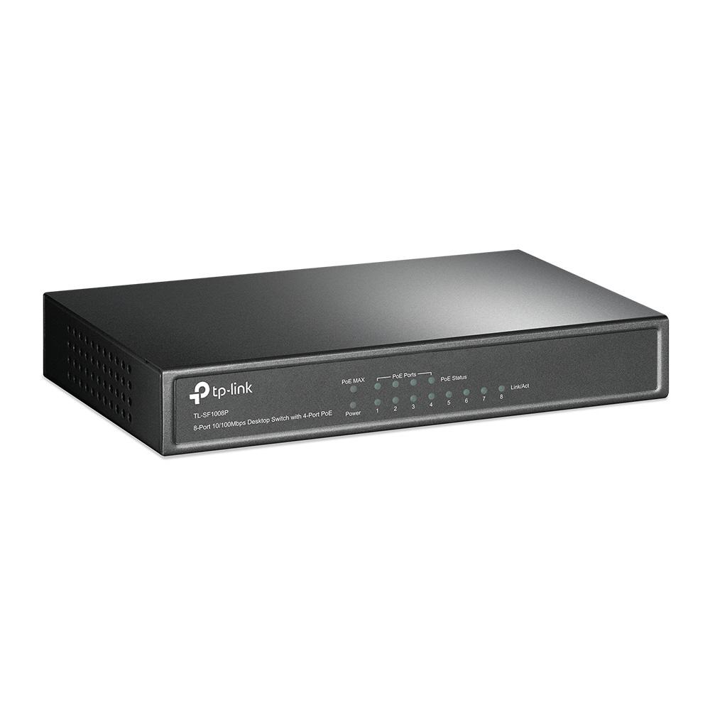 TP-Link TL-SF1008P 4-Port PoE'li 8-Portlu 10/100Mbps Masaüstü Switch