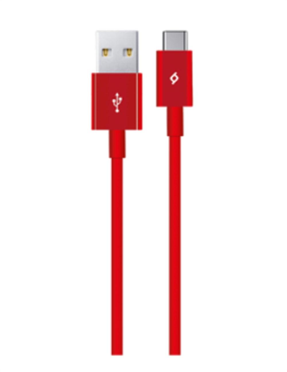 TTEC   2DK12K Type-C Şarj Kablosu, Kırmızı