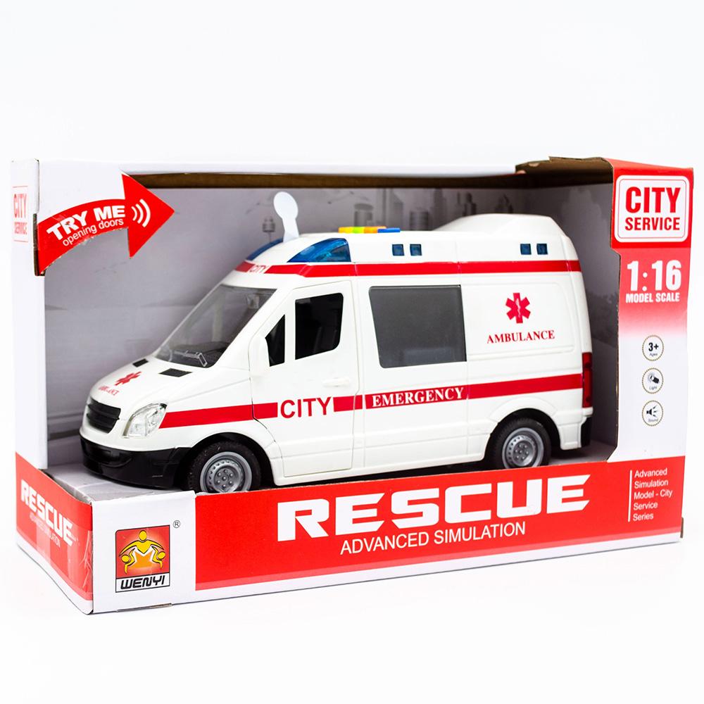 Wenyi City Service İttirmeli Sesli Ambulans, Beyaz