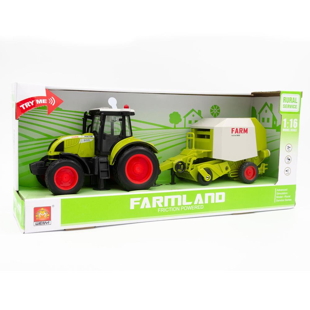 Wenyi Farmland İttirmeli Sesli Balya Makineli Traktör