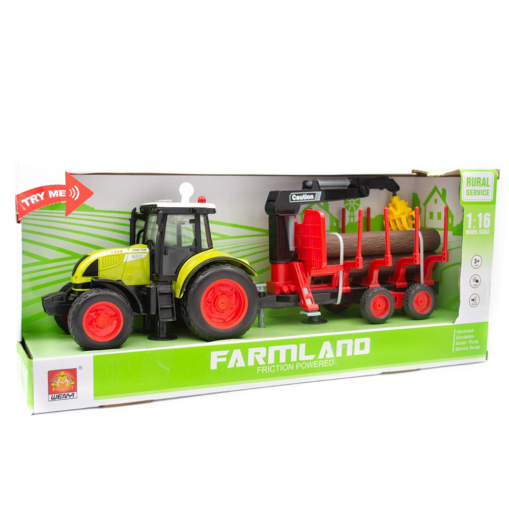 Wenyi Farmland İttirmeli Sesli Dorseli Traktör.