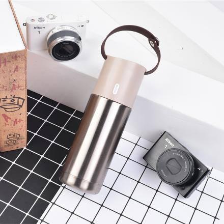 XIMISO Çay Süzgeci İle Saklanabilir Çok Fonksiyonlu Yalıtımlı Termos 350ml, Kahve