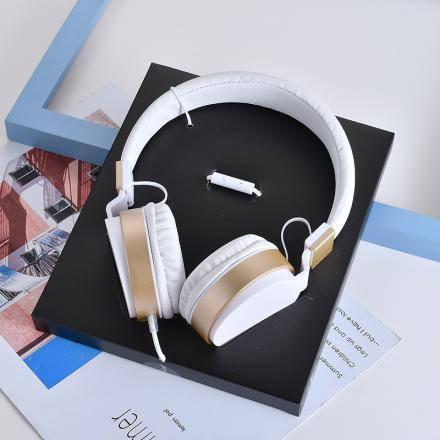 XIMISO  İskandinav Stili Metal Kulaklıklar, Beyaz