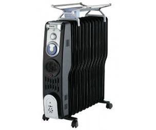 Raks Aspendos Elektrikli Yağlı Radyatör, Siyah w:304 h:254