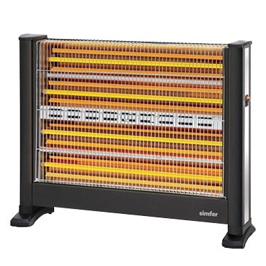 Simfer S.2800.ESL.BF Slimline Quartz Isıtıcı 2800W